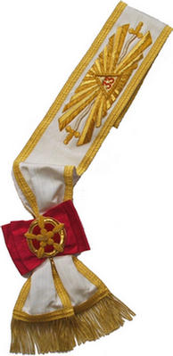 Code 19/309S - SASH 33 DEGREE - BULLION EMBROIDERED