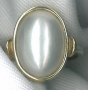 #/1218 9ct yellow gold 17x13mm Mabe Pearl