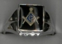 1/426SSQ Sterling Silver Masonic Ring