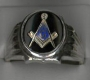1/426SOVAL SOLID STERLING SILVER MASONIC RING