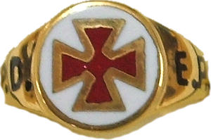 Code 7/122G - PRECEPTORY RING 9CT YELLOW GOLD