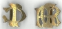 1/385E Entwined Initials 2 or 3 Metal Gilt