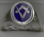 #/1311 Sterling Silver Flip top Masonic Ring