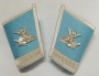 CODE 23/111 LODGE PRESIDENT SKY BLUE GAUNTLETS LACE WITH EMBLEMS