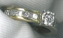 #/661 18ct yellow gold set with TWD=1ct