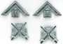 CODE 1/223 GAUNTLET EMBLEMS pair silver plated