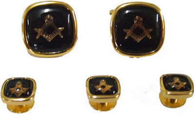 Code N/BLACKL&S - CUFF LINKS & STUD - BLACK